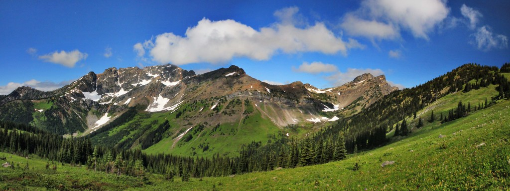 Powder and Shull Mountains, from the Pacific Crest Trail, Pasayten Wilderness