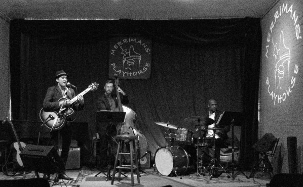Merriman's Playhouse (South Bend) with John Sutton (bass) & Andre Beasley (drums). Photo by Marc Abel.