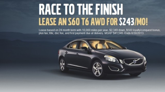 VO race to finish s60 lease