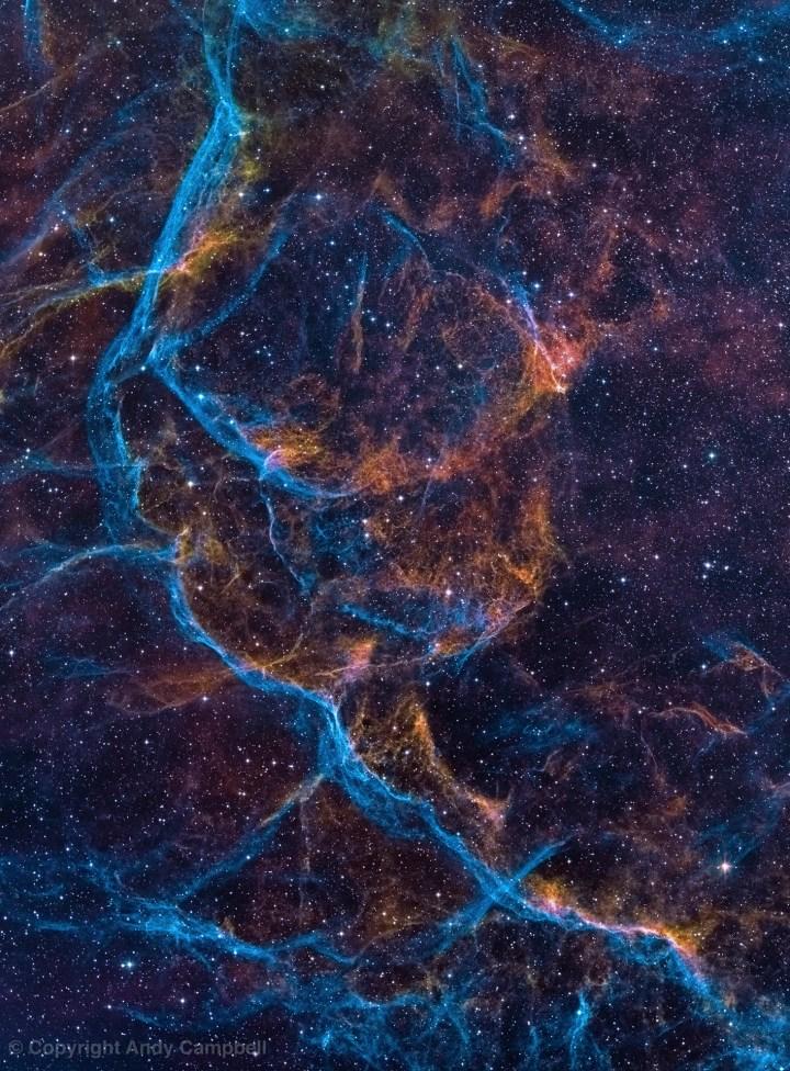 Vela Supernova Remnant in Narrowband