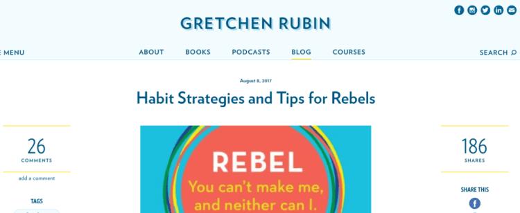 Author website example 2