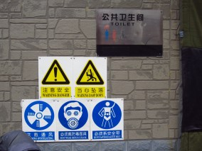 While not necessarily Chinglish, I just had to include this one. Use this toilet at your peril LOL