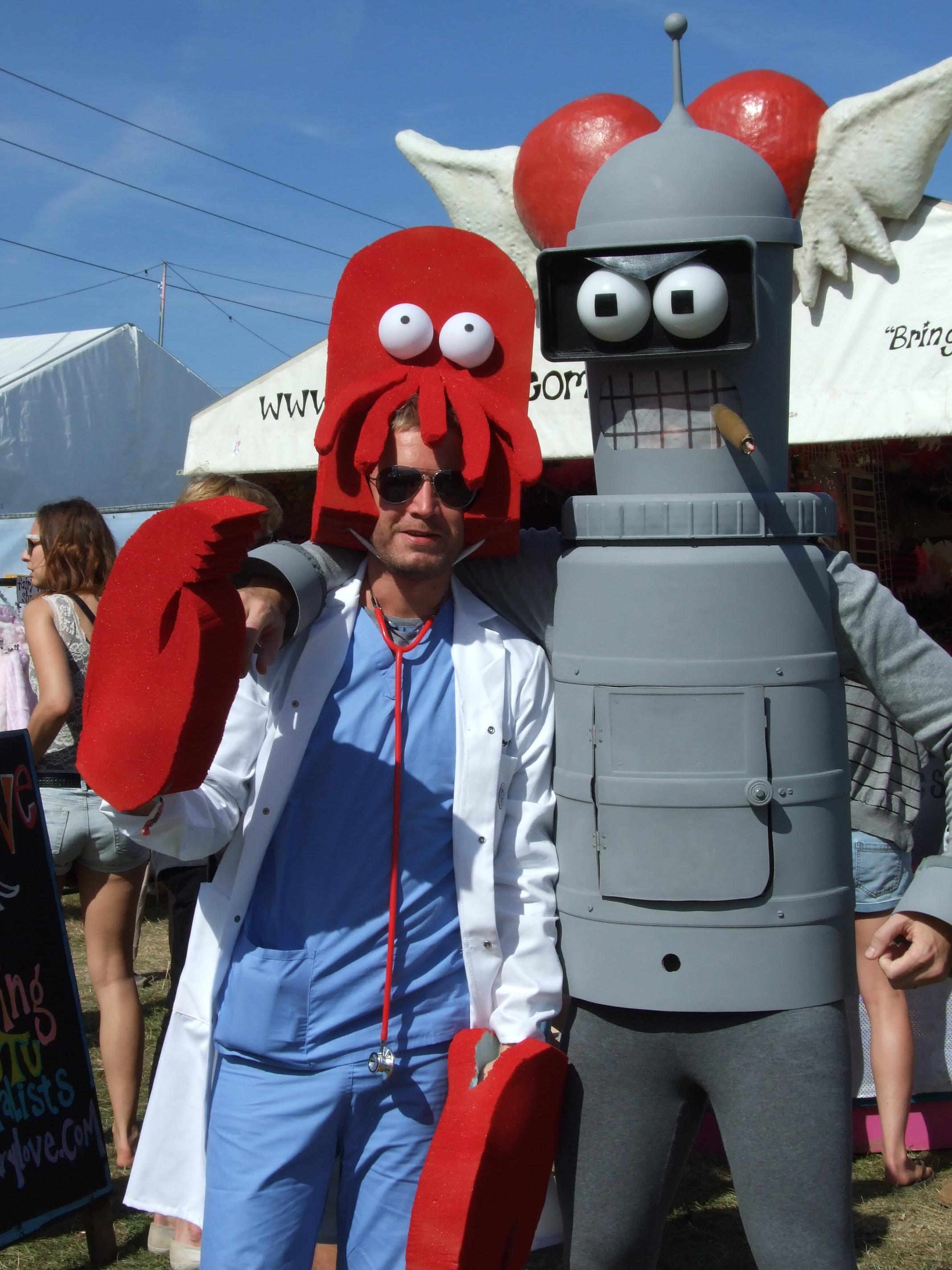 Zoidberg and Bender