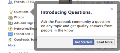 introducing facebook questions