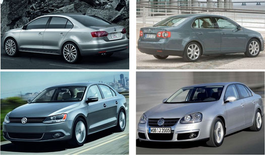 2010 Jetta vs 2011 Jetta TDI different body