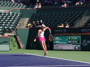 American Alison Riske on the new Stadium-2