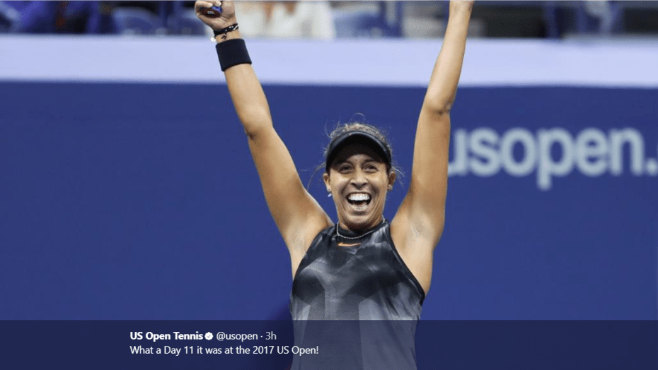 Andy Taylor. Tennis Host. 2017 US Open. Semifinal. Day-11. Madison Keys defeats Coco Vandeweghe