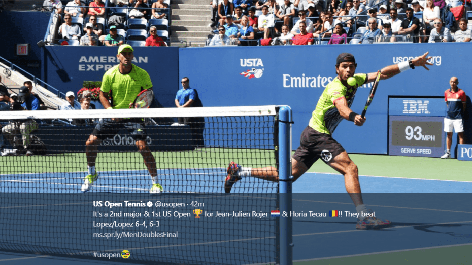 Andy Taylor. Tennis Announcer. 2017 US Open Doubles Champions. Jean-Julien Rojer and Horia Tecau