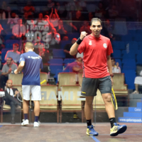 Andy Taylor. Host. Qatar Classic Squash Championship. Day 1. Round 1. Zahed Mohamed