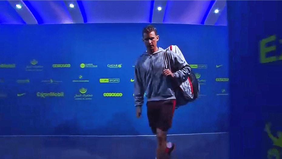 Andy Taylor. Host. Qatar ExxonMobil Open 2018. Day 1. Round 1. Dominic Thiem
