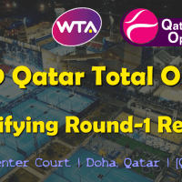Announcer Andy Taylor. Qatar Total Open 2019. Qualifying Round-1 Results