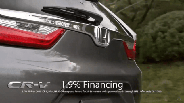 Andy Taylor Voice Over. Don Wessel Honda. 2019 Clearance CR-V