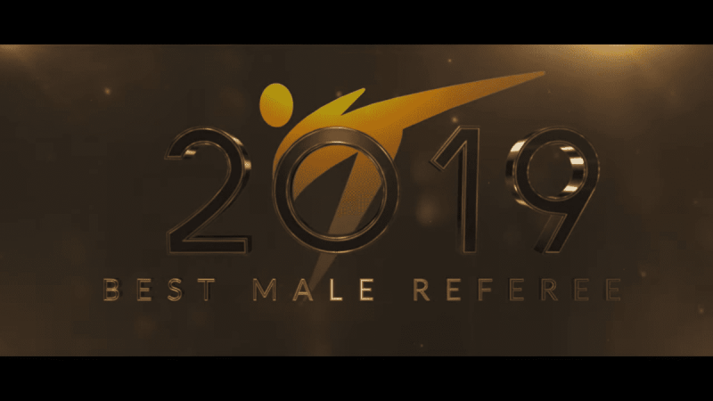 Voice Over Andy Taylor. Award Gala. World Taekwondo 2019 Best Male Referee of the Year