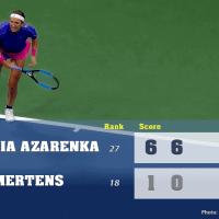 Announcer Andy Taylor. 2020 US Open. Quarterfinal Victoria Azarenka