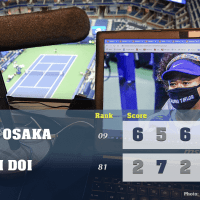 Announcer Andy Taylor. 2020 US Open. Round 1 Naomi Osaka