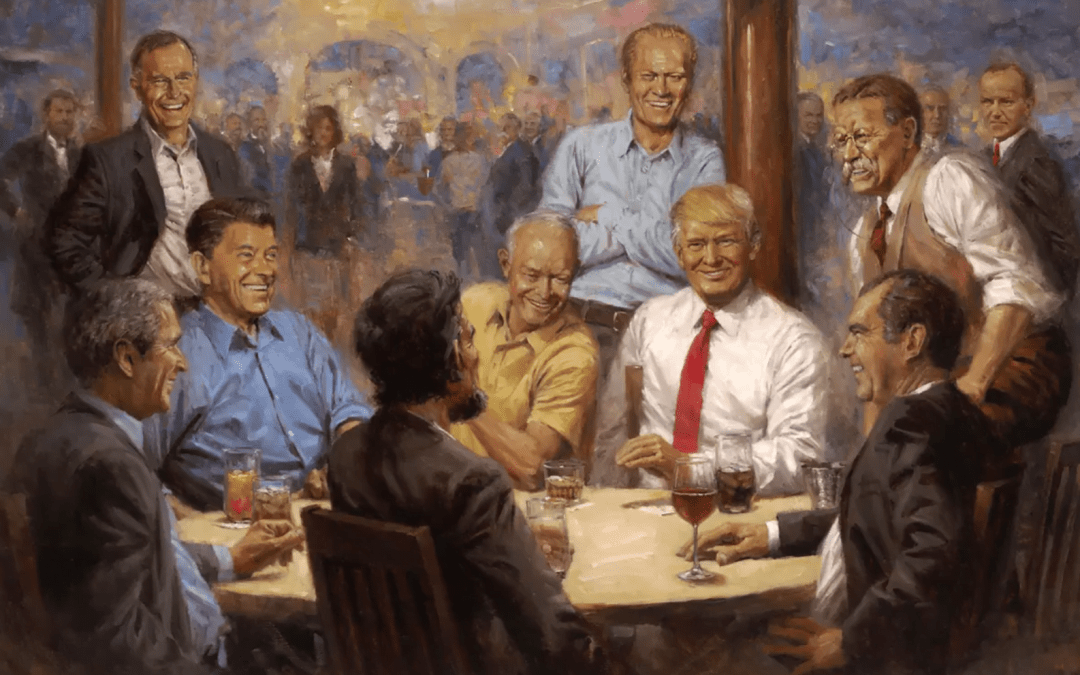 There's a Subtle Feminist Message in This New Painting of Donald Trump