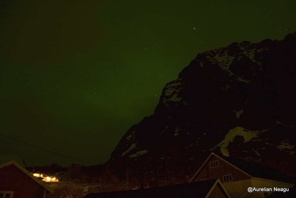 aurora boreala in Tind - 2