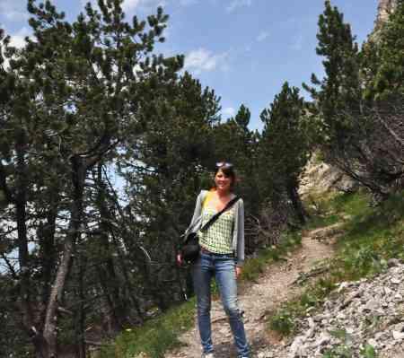 ... me enjoying a sunny hike