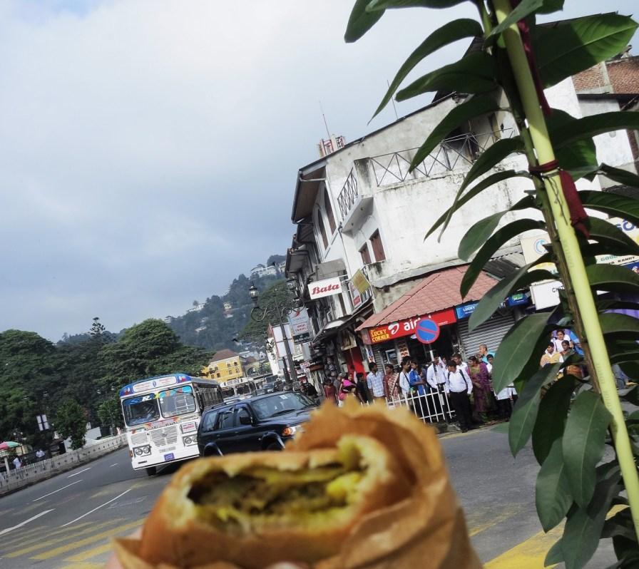 Samosa breakfast in Kandy