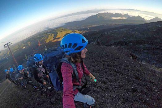 Climbing up...