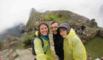Arriving at Machu Picchu after a very rainy ascent