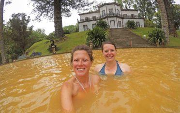 huge brown hot tub
