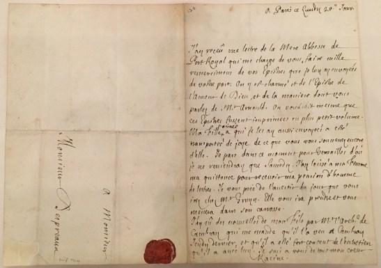 Racine letter
