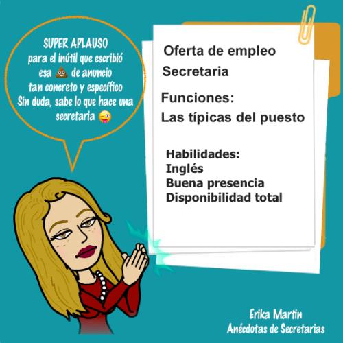 oferta empleo secretaria