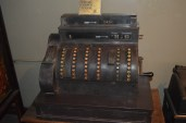 An antique cash register used by the current owner as their first POS many years ago.