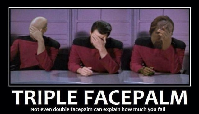 Triple facePalm Picard Data Wharf