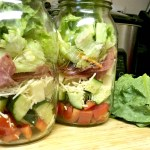 Italian Chopped Salad in a Mason Jar