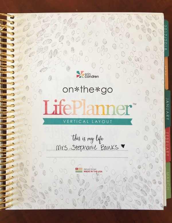 life planner title page