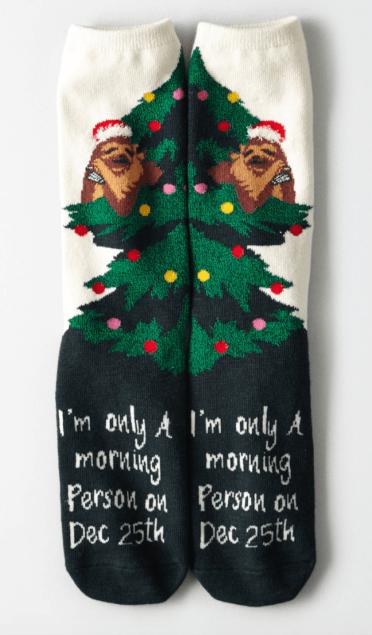 AEI Sloth Christmas Socks