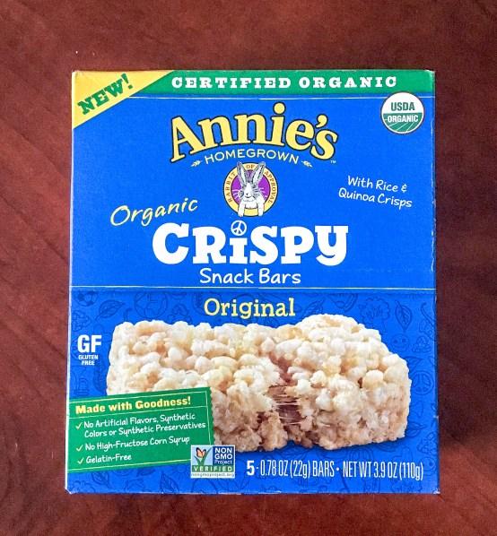 annie's crispy rice snacks