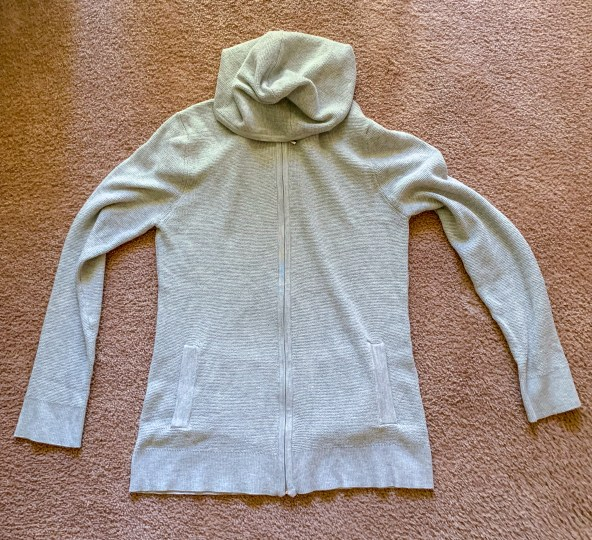Evolution by Cyrus Sana Waffle Knit Front Zip Up Pullover