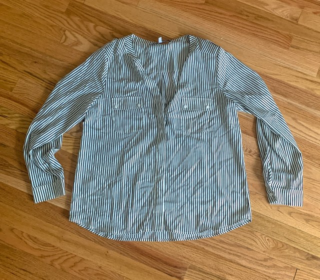 Collective Concepts Adalynn Roll Tab Button Up Blouse $29