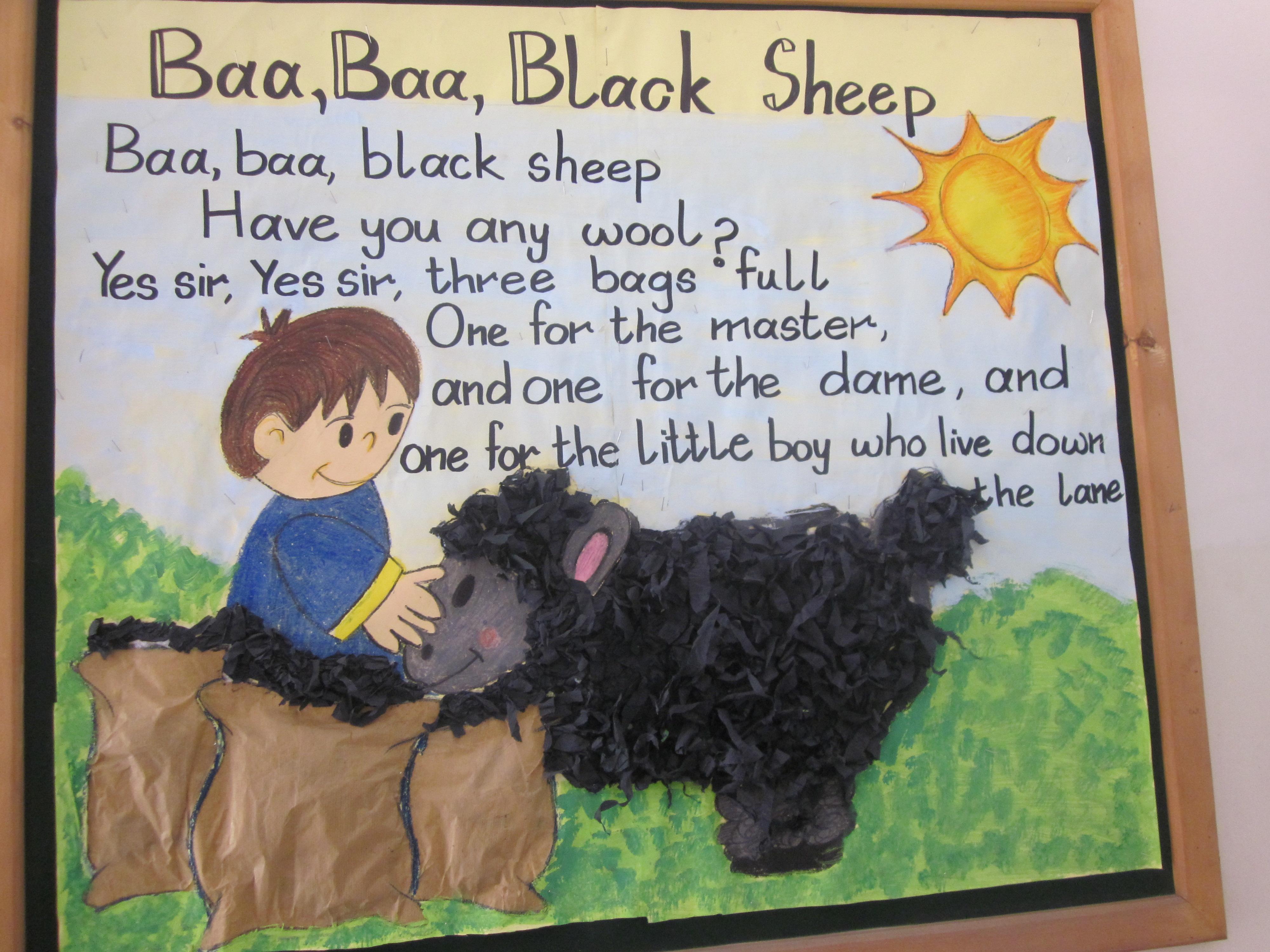Nursery Rhyme Baa Baa Black Sheep