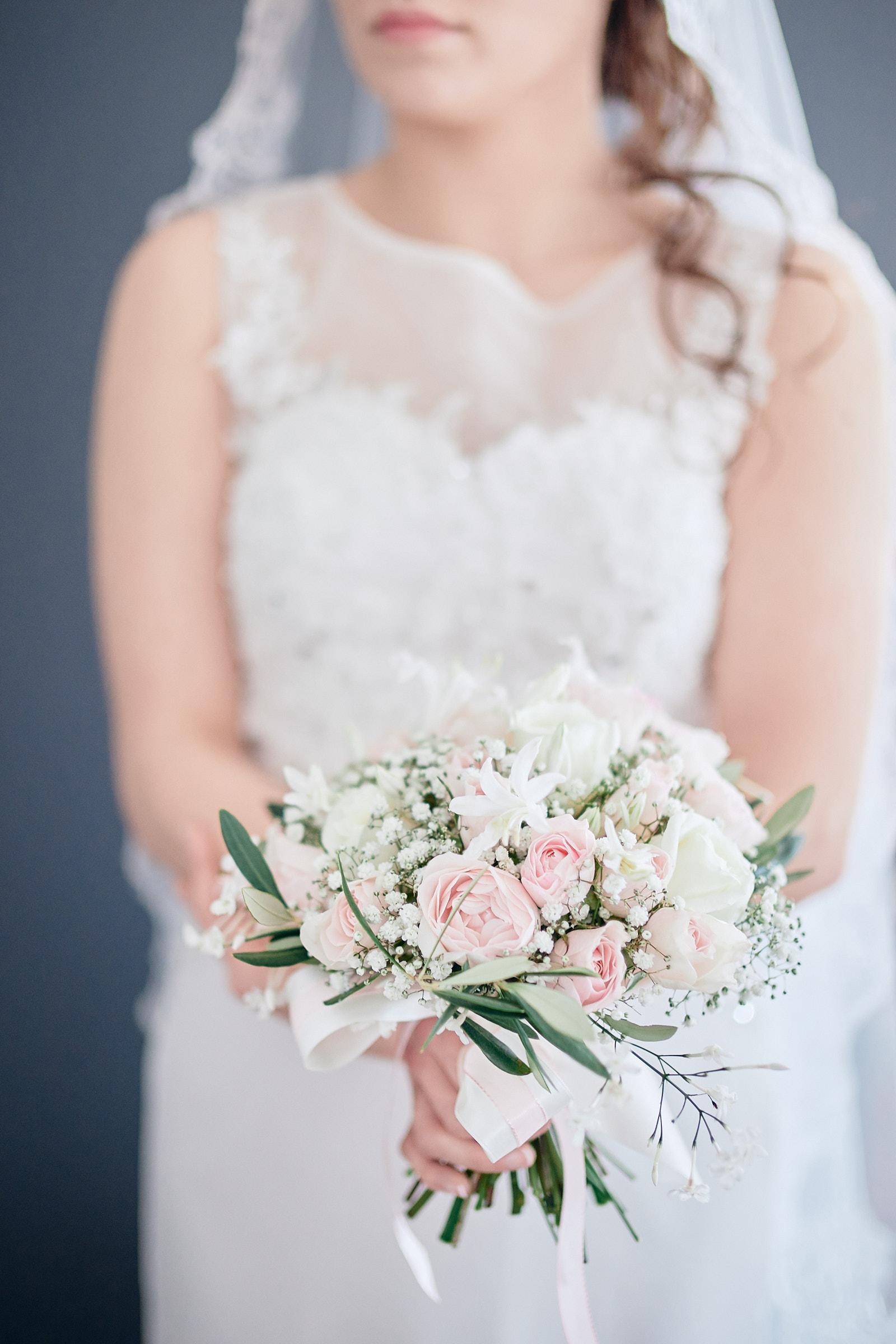 le bouquet et la mariée