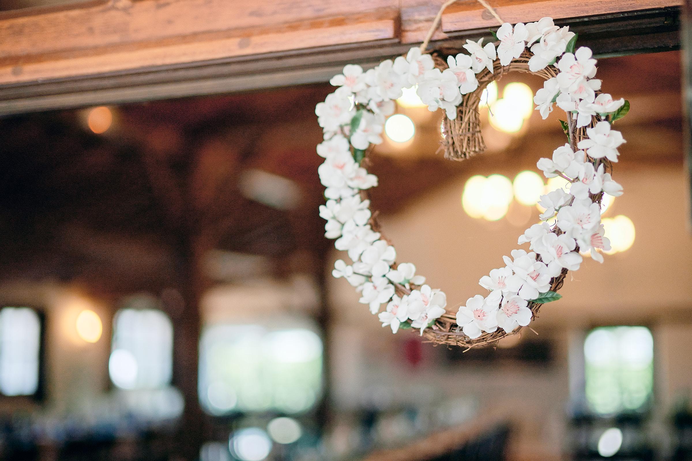 détail de la décoration du mariage au restaurant la jalonnière