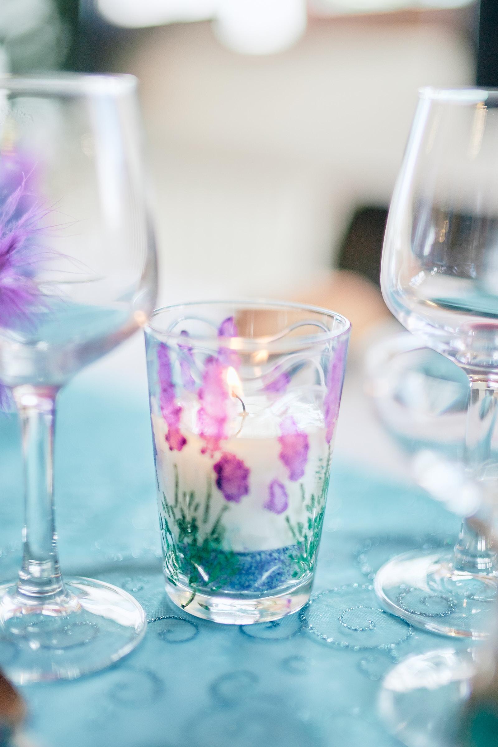 détail de la décoration de table de mariage