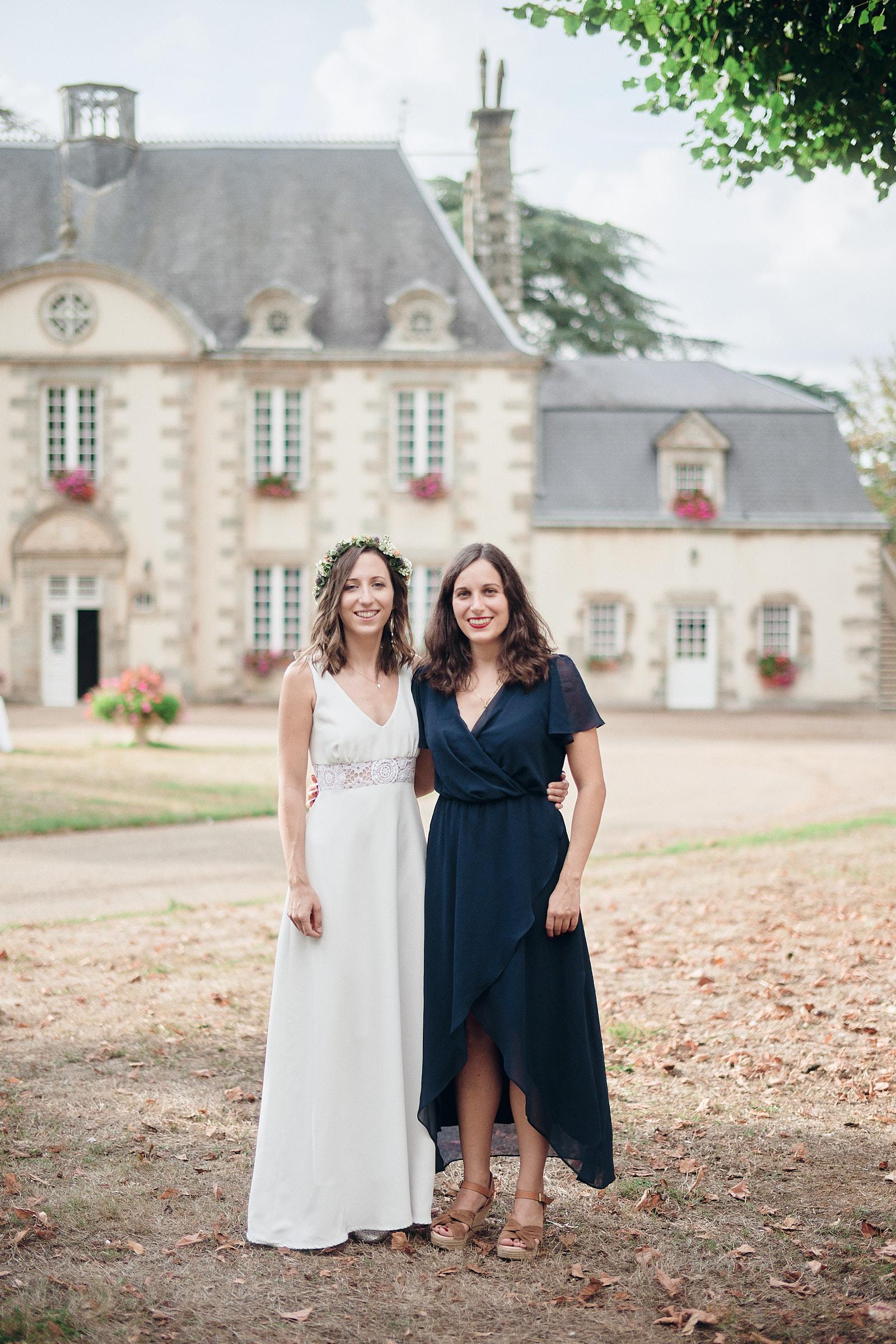 la mariee et sa soeur