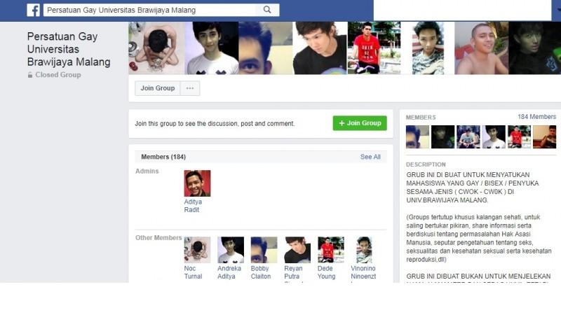 Heboh Soal Grup Persatuan Gay Universitas Brawijaya Malang di FB