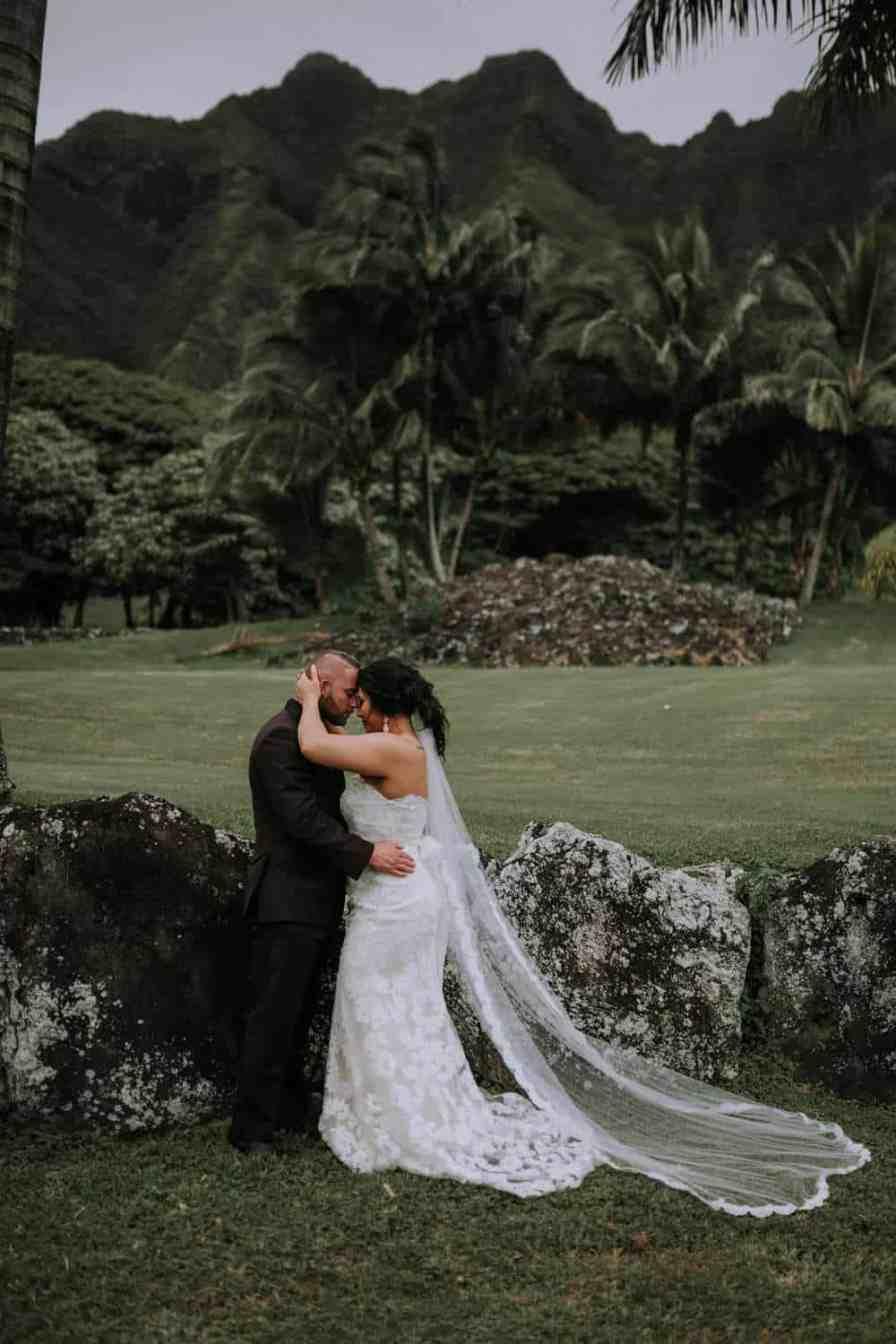 Kualoa Ranch Paliku Gardens in Hawaii wedding venue