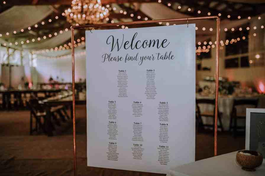Wedding table setting design