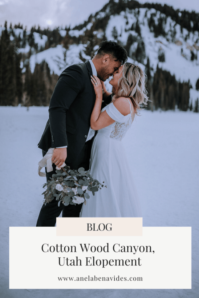 Cotton Wood Canyon, Utah elopement by Anela Benavides Photography. This blog post includes wedding details, bridal fashion, groom fashion, bride and groom portraits. Book your Hawaii elopement and browse the blog for more inspiration #photography #weddingplanning #weddingtips #weddingphotography #hawaiiweddingphotographer