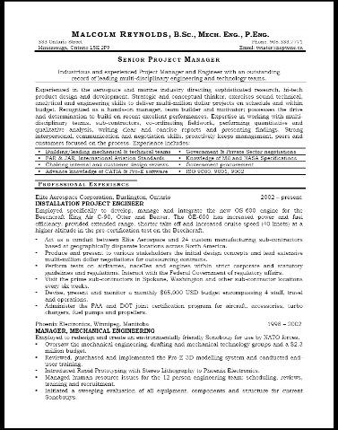 engineer resumes and job coaching for executives