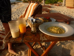 Dinner on the beach with kids in Isla Mujeres