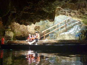 cenote with kids in cancun mexico