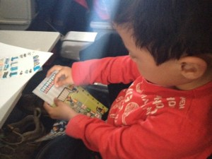 Stickers to entertain kids on an airplane