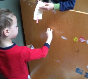 Stickers all over with kids